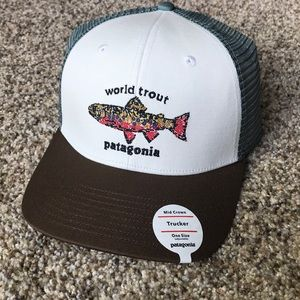 """Patagonia """"World Trout"""" Trucker Hat"""